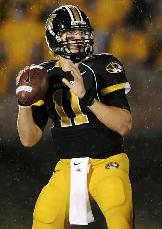 FILE - In this Oct. 23, 2010 file photo, Missouri quarterback Blaine Gabbert drops back to pass during the third quarter of an NCAA college football game against Oklahoma in Columbia, Mo. Gabbert is a top prospect in the upcoming NFL Draft. Photo: L.G. Patterson, Associated Press 2010