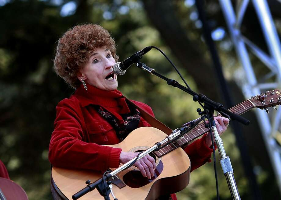 The legendary Hazel Dickens performed at the Banjo stage. The ninth annual Hardly Strictly Bluegrass Festival attracted thousands to Speedway Meadow in Golden Gate Park Sunday October 4, 2009. Photo: Brant Ward, The Chronicle