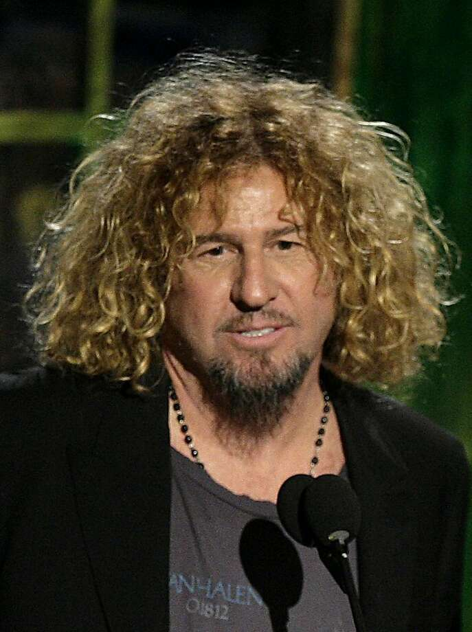 FILE - In this March 12, 2007 file photo, Sammy Hagar, of Van Halen, talk as they were inducted into the Rock & Roll Hall of Fame at the induction ceremony in New York. Photo: Seth Wenig, AP
