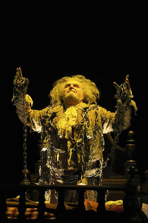 "Jack Willis is the Ghost of Jacob Marley, come to haunt Scrooge in ACT's ""A Christmas Carol"" Photo: Kevin Berne"