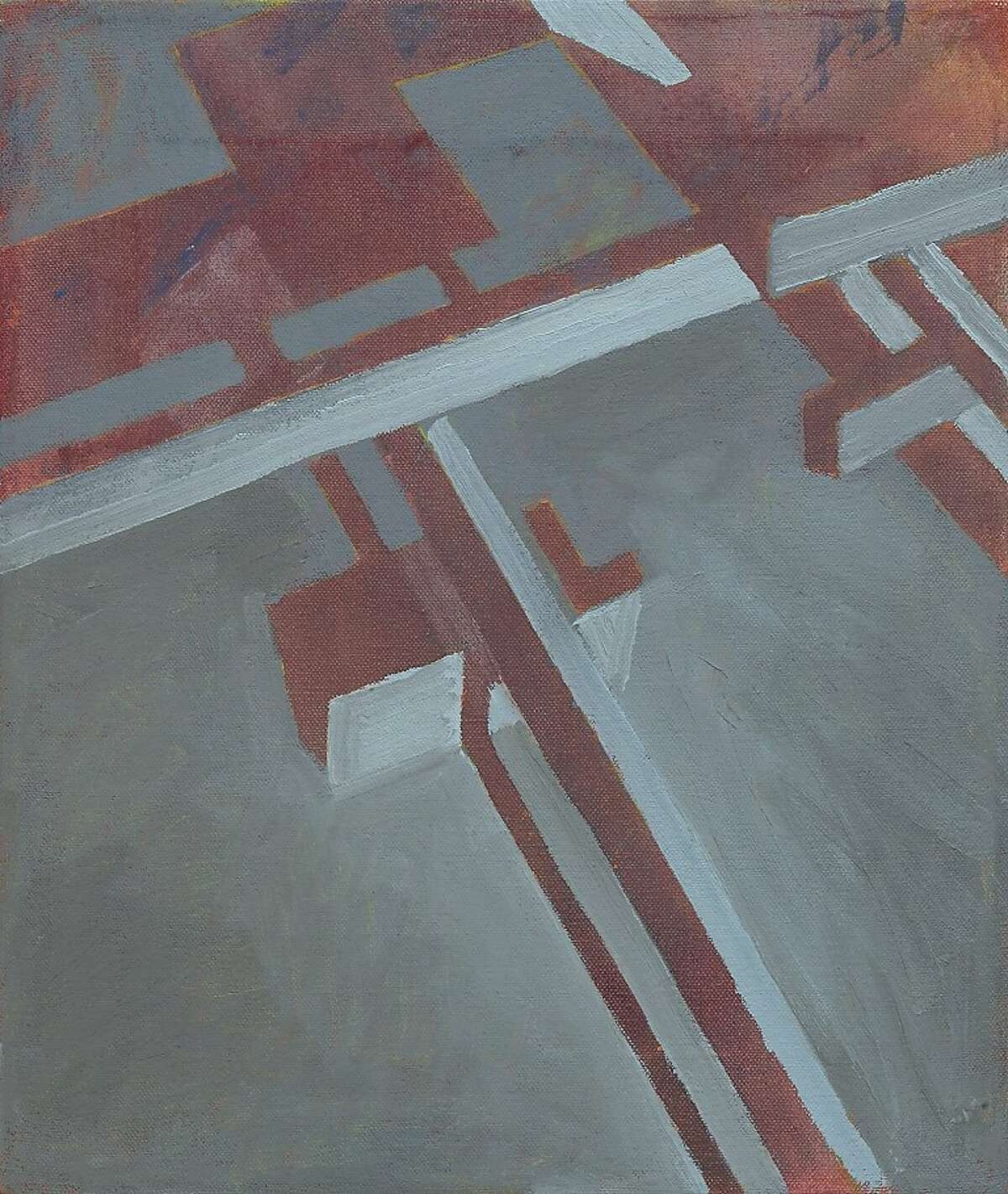 """""""Cadmium Arrangment"""" (2011) oil on canvas by Will Yackulic"""