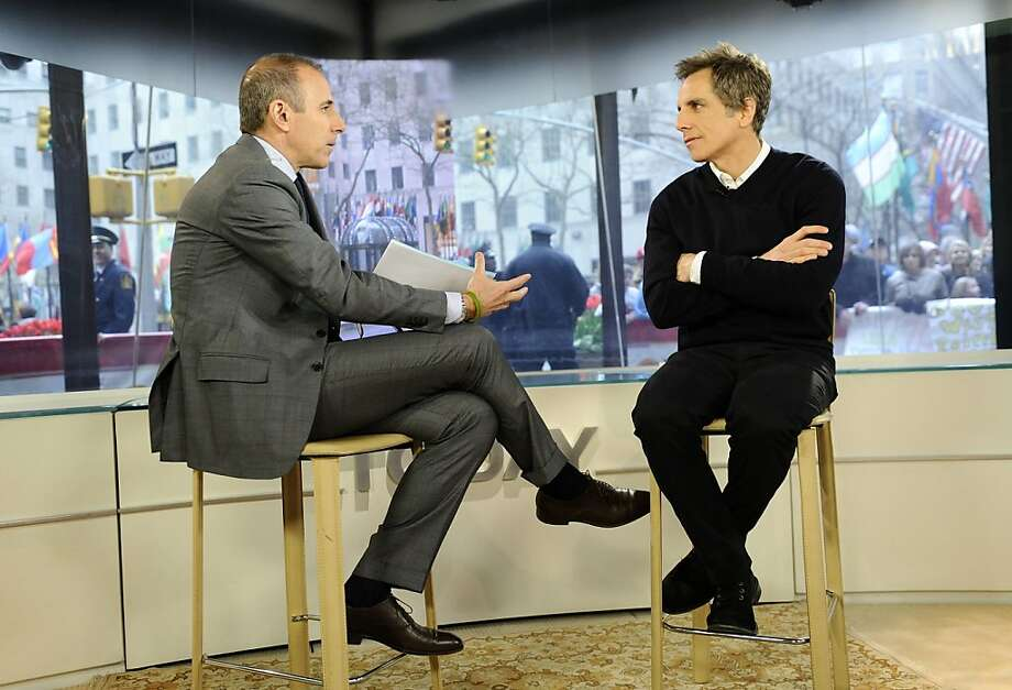 """In this publicity image released by NBC, actor Ben Stiller, right, appears on the """"Today"""" show with co-host Matt Lauer to talk about his new Broadway play """"The House Of Blue Leaves,"""" Wednesday, April 20, 2011 in New York. Stiller announced that he is partnering with New York City art dealer David Zwirner on a benefit auction called """"Artists for Haiti,"""" scheduled for Sept. 22, 2011 at Christie's auction house in New York. Some of the artists who have donated works include Chuck Close, Paul McCarthy,Jasper Johns, Dan Flavin and Jeff Koons. Photo: Peter Kramer, AP"""