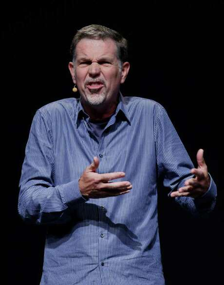 PAUL SAKUMA : ASSOCIATED PRESS FILE CHALLENGE: Netflix CEO Reed Hastings has said his biggest mistake this year was trying to phase out Netflix's once-trailblazing DVD-by-mail rental service more quickly than millions of customers wanted. Photo: Paul Sakuma / AP2011