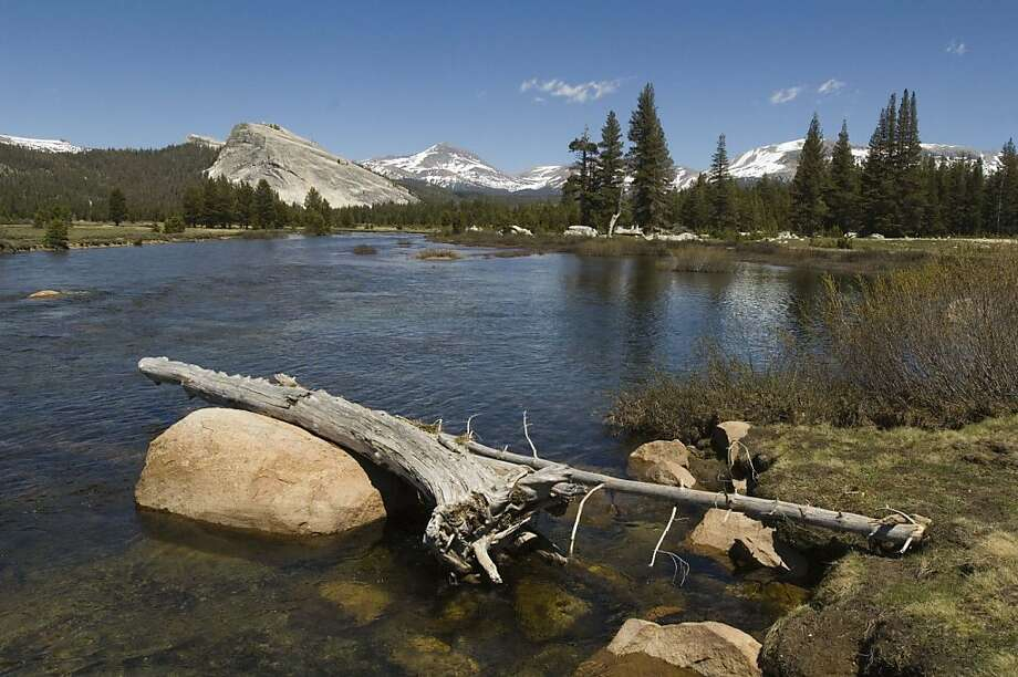 Looking east across the Tuolumne River you can see Lembert Dome and Mt. Dana. Photo: Al Golub, AP