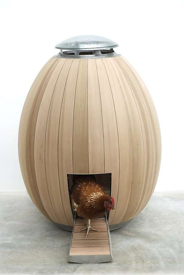 The Nogg is a stylish cedar wood chicken coop Engineered and crafted by hand in the UK. Photo: Nogg