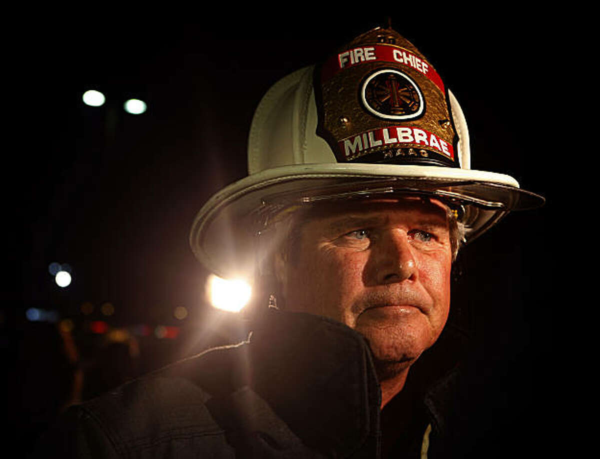Millbrae fire chief Dennis Haag at a press conference at the Bayhill shopping center in San Bruno, Calif., on Thursday, September 9, 2010.