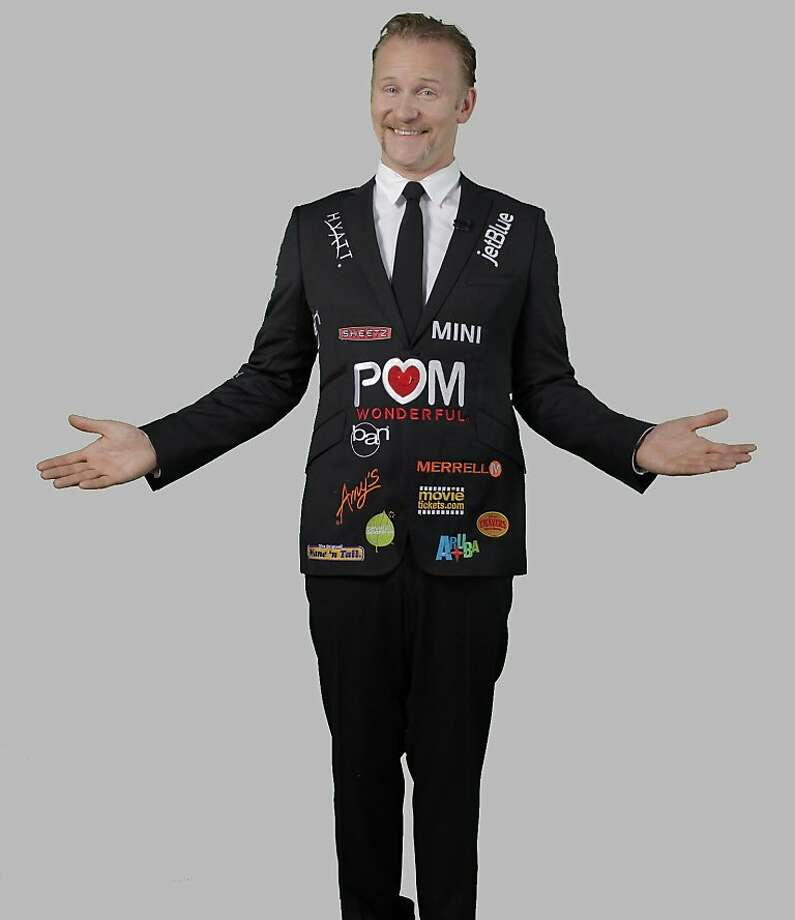 "Director Morgan Spurlock and his coat with sponsors of ""POM Wonderful Presents:  The Greatest Movie Ever Sold"" Photo: Sony Pictures Classics"
