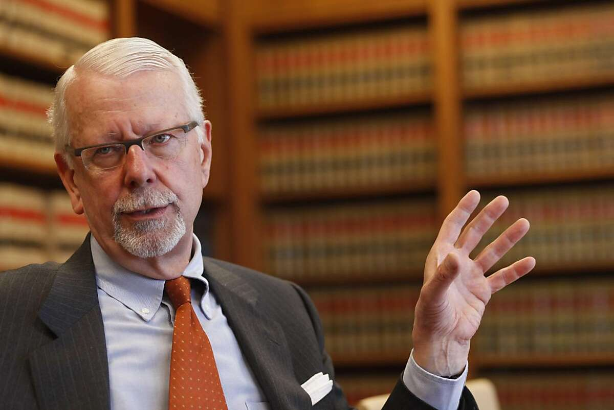 Recently retired U.S. District Judge Vaughn Walker, author of rulings on same-sex marriage and wiretapping, sits with veteran members of the press in the Federal Building to discuss his plans for the future on Wednesday April 6, 2011 in San Francisco, Calif.