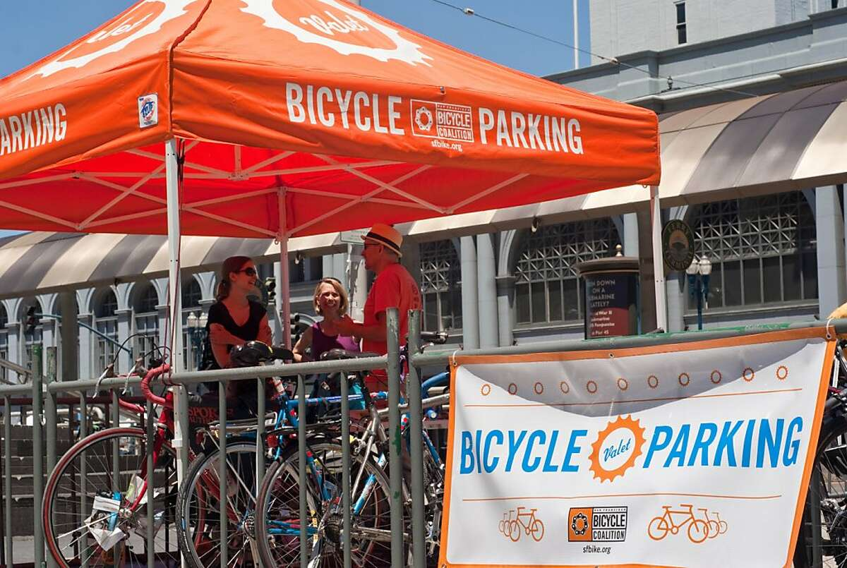Riders on the Beer and Cheese tour will use the bike valet outside the Ferry Building on Saturdays.