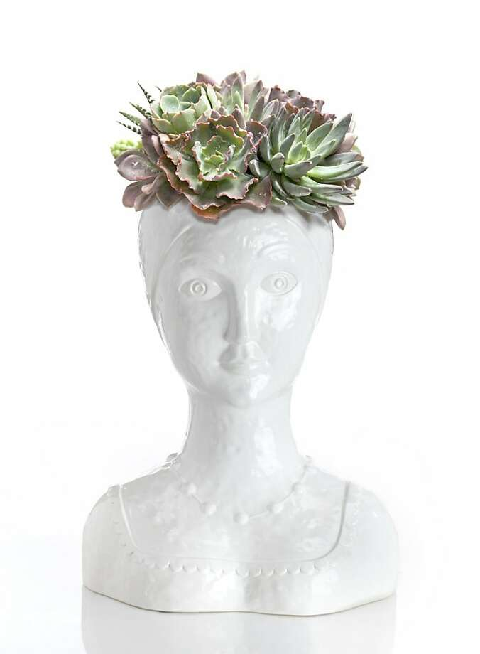 Female Bust Vase, $150, from Floral Art LA Photo: Floral Art LA