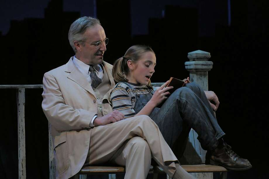 "Dan Hiatt as Atticus Finch and Olivia Lowe as Scout in Center Rep's ""To Kill a Mockinbird"" Photo: Kevinberne.com"