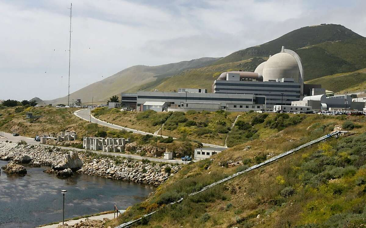 PG&E's Diablo Canyon nuclear power plant in Avila Beach, Calif. on Friday, May 26, 2006. The two spent fuel storage pools are nearing its capacity of 2,648 cells so plant officials are constructing a dry cask storage area to hold future radioactive fuel cell waste.