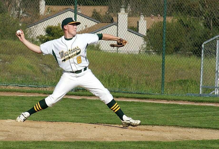 San Marin pitcher Sean Hickey threw a no-hitter March 31 against San Rafael. Photo: Courtesy Of Dave Schalch