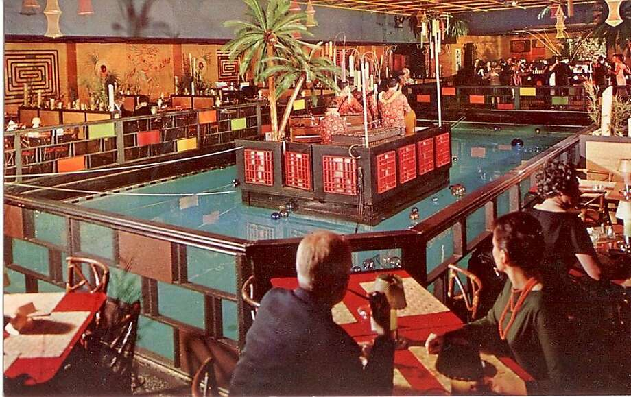 This is how the Tonga Room looked in a 1950s postcard. Now it's a tiki enclave -- so much so that one preservation consultant wants it declared a historic landmark. Photo: Courtesty Chris VerPlanck, Chris VerPlanck