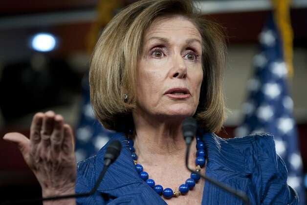 US House Minority Leader Nancy Pelosi speaks during a press conference about the budget and a possible shutdown of the US government at the US Capitol in Washington, DC, April 7, 2011. Photo: Saul Loeb, AFP/Getty Images