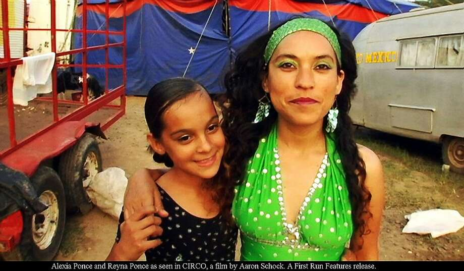 "Alexia and Reyna Ponce in the documentary ""Circo,"" about a traveling Mexican circus,. Photo: First Run Features"