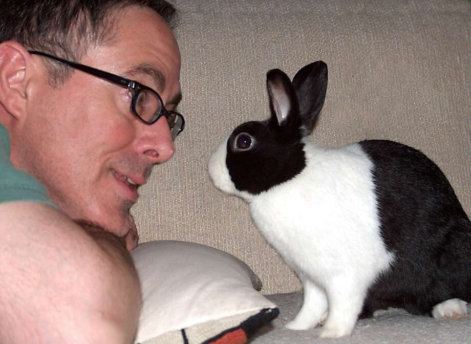 Rob and Dutch the rabbit. Photo courtesy of SaveABunny Photo: Courtesy Of SaveABunny