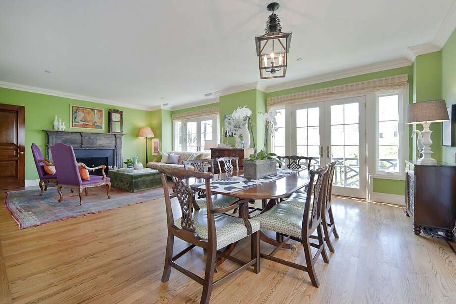 This is a dining room at 55 Palm. Photo: OpenHomesPhotography.com