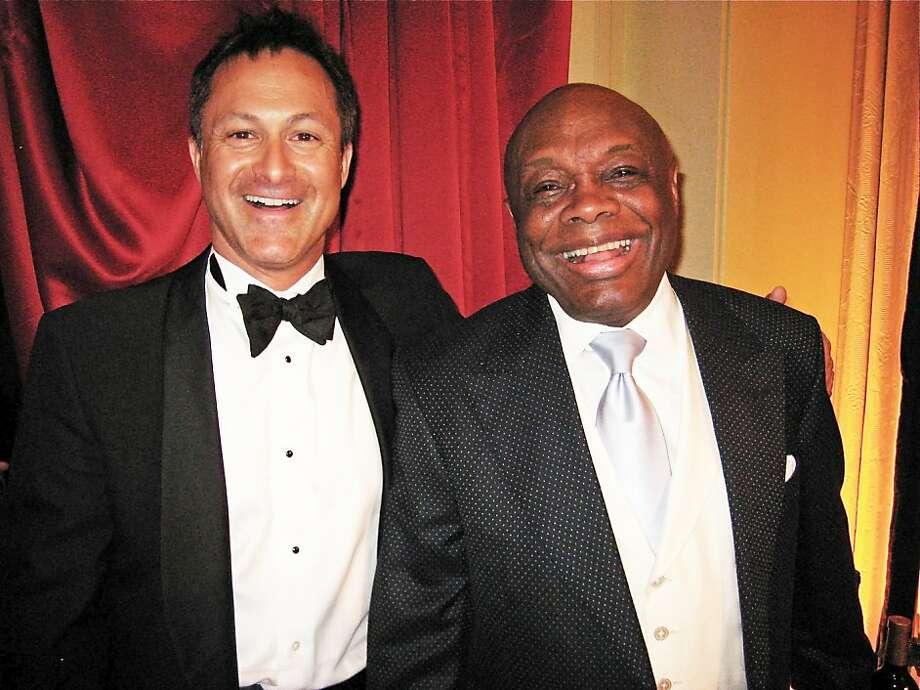 Chris Moscone and Willie Brown celebrated their birthdays at the Cal Shakes Gala on Saturday at the Four Seasons Hotel Photo: Catherine Bigelow, Special To The Chronicle