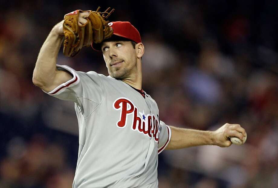 WASHINGTON, DC - APRIL 14: Starting pitcher Cliff Lee #33 of the Philadelphia Phillies delivers to a Washington Nationals batter during the sixth inning at Nationals Park on April 14, 2011 in Washington, DC. Photo: Rob Carr, Getty Images