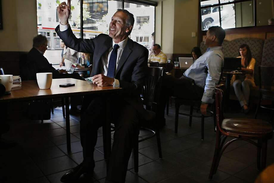 "Howard Schultz, the CEO of Starbucks, promoting his new book ""Onward""  on Monday, April 4, 2011at a Market street Starbucks in San Francisco, Calif. Photo: Liz Hafalia, The Chronicle"