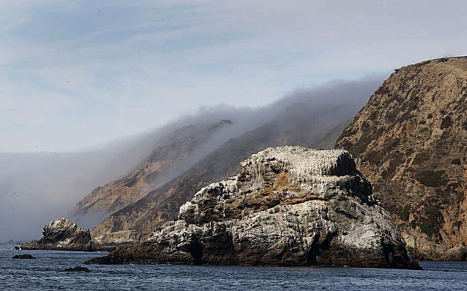 Chimney Rock is seen on the eastern tip of the Point Reyes peninsula during a cruise recreating explorer Sir Francis Drake's arrival at Drakes Bay in Point Reyes, Calif., on Friday, Sept. 11, 2009. Photo: Paul Chinn, The Chronicle