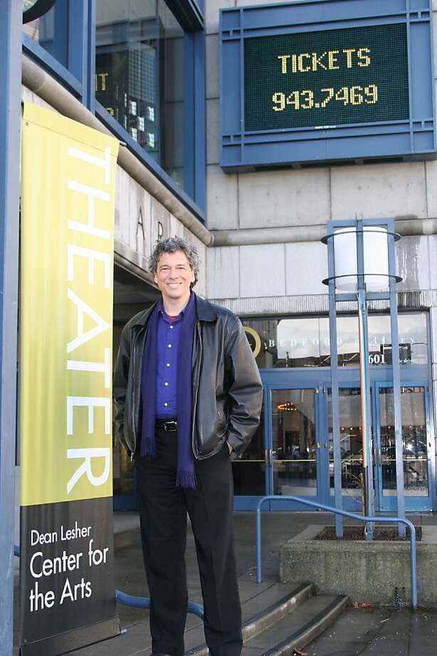 Michael Butler in front of the theater at Center Rep's home in Walnut Creek Photo: Ann Luke
