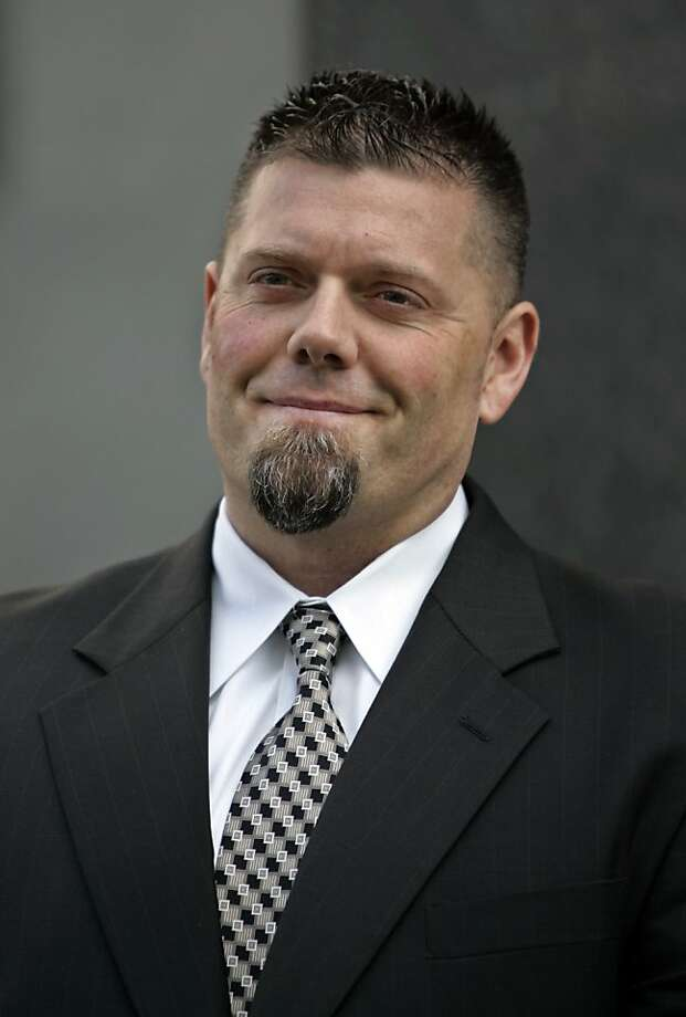 FILE - This Feb. 27, 2009, file photo shows Greg Anderson, Barry Bonds' former personal baseball trainer, smiling as he leaves a federal courthouse in San Francisco. More than three years after Bonds was first indicted, his federal trial is finally nearing its end. Photo: Paul Sakuma, Associated Press