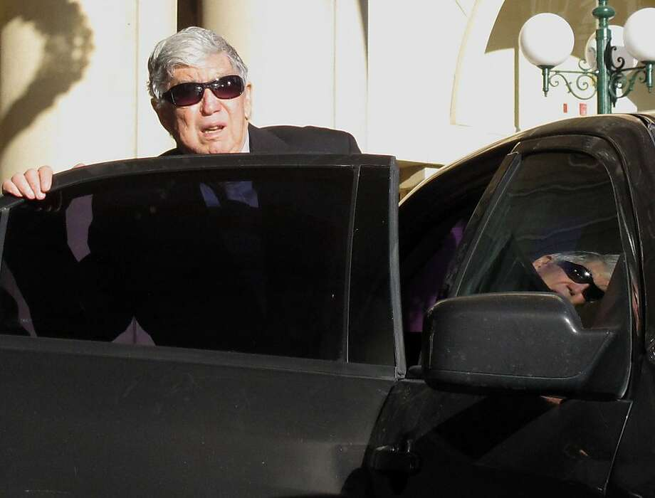 In this April 7, 2011 photo, Luis Posada Carriles gets into a car in front of the Camino Real hotel in downtown EL Paso, Texas. A Texas jury has found the elderly ex-CIA agent from Cuba not guilty of all 11 counts of perjury, obstruction and immigration fraud. Photo: Juan Carlos Llorca, Associated Press