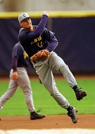 CAL-C-16FEB00-SP-JO Berkeley, CA. UC Berkeley, Cal Baseball #11 Xavier Nady Photo by............John O'Hara Photo: John O'Hara, The Chronicle