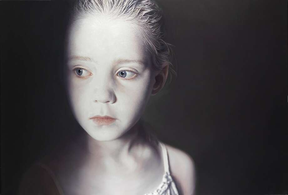 """Murmur of the Innocents 3"" (2009) mixed media, oil and acrylic on canvas by Gottfried Helnwein Photo: Unknown, Crocker Art Museum, Sacramento"