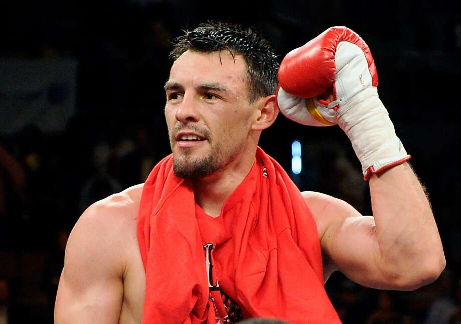 LAS VEGAS - JULY 31:  Robert Guerrero celebrates his unanimous-decision victory over Joel Casamayor in their junior welterweight fight at the Mandalay Bay Events Center July 31, 2010 in Las Vegas, Nevada.  (Photo by Ethan Miller/Getty Images) Photo: Ethan Miller, Getty Images