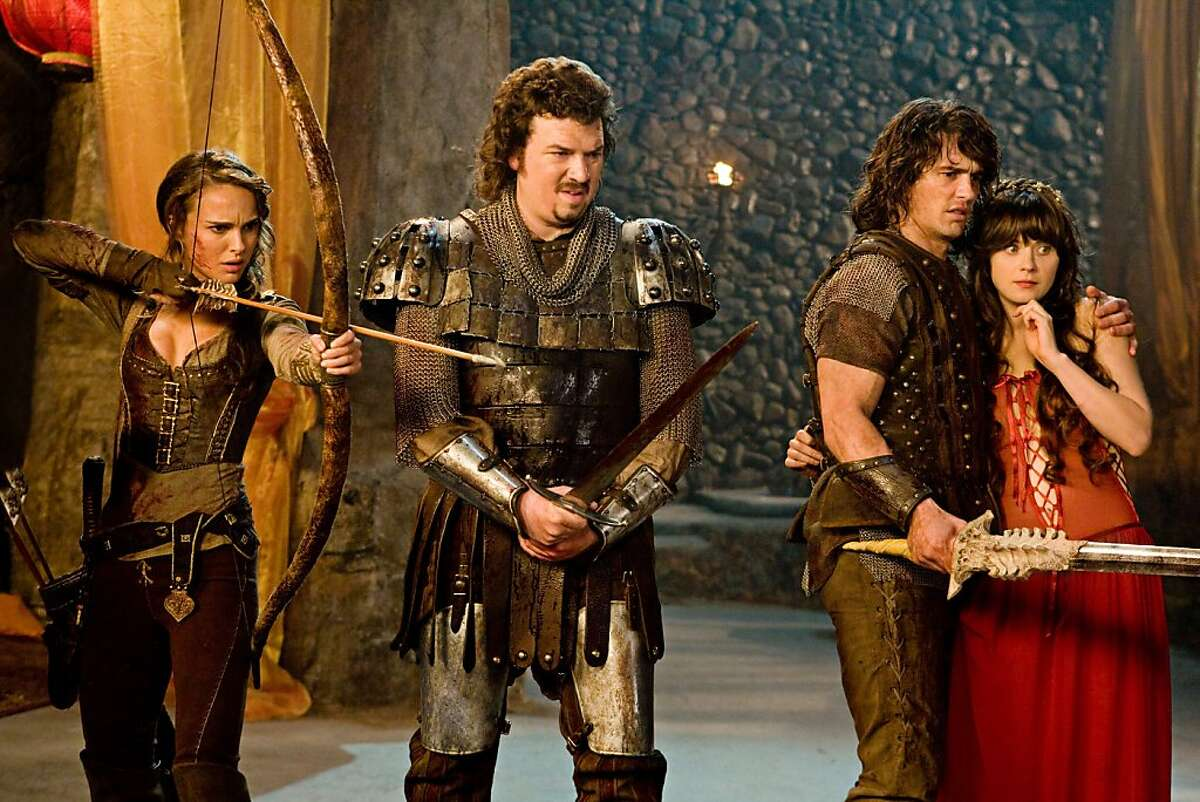 (L to R) Isabel (NATALIE PORTMAN), Thadeous (DANNY MCBRIDE), Fabious (JAMES FRANCO) and Belladonna (ZOOEY DESCHANEL) in a comedy-adventure set in a fantastical world--