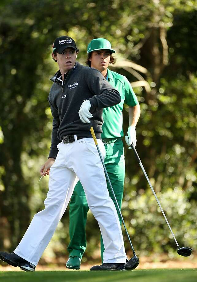 AUGUSTA, GA - APRIL 07:  Rory McIlroy of Northern Ireland and Rickie Fowler wait on the second tee during the first round of the 2011 Masters Tournament at Augusta National Golf Club on April 7, 2011 in Augusta, Georgia. Photo: Andrew Redington, Getty Images