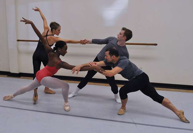 Oakland Ballet dancers Rachel Spiedel Little, Amber Merrick, Connolly Strombeck and Brandon Freeman. Photo: Jeff Bedrick
