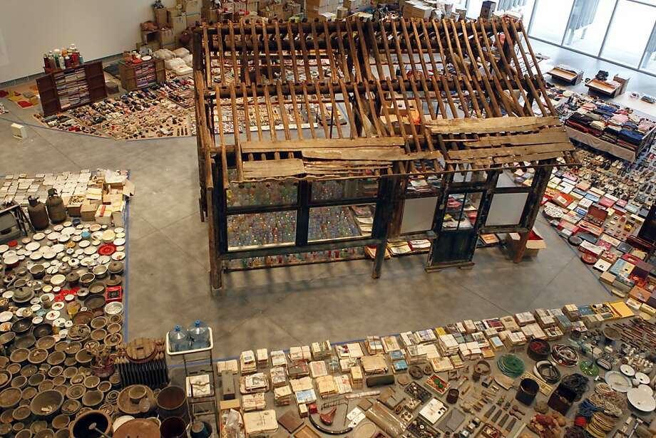 "A large-scale art installation by Chinese artist Song Dong titled, ""Waste Not"", is nearing completion at the Yerba Buena Center for the Arts in San Francisco, Calif., on Thursday, Feb. 24, 2011. Photo: Paul Chinn, The Chronicle"