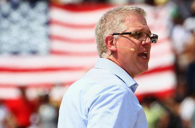 "WASHINGTON - FILE:  Fox News personality Glenn Beck speaks during the ""Restoring Honor"" rally in front of the Lincoln Memorial at the National Mall on August 28, 2010 in Washington, DC.  According to reports April 6, 2011, Beck and Fox News announced he would transition off his daily Fox News program later in the year.  (Photo by Alex Wong/Getty Images)  Ran on: 04-07-2011 Glenn Beck drew thousands of people to the National Mall in Washington last August for a &quo;restoring honor&quo; rally. Photo: Alex Wong, Getty Images"