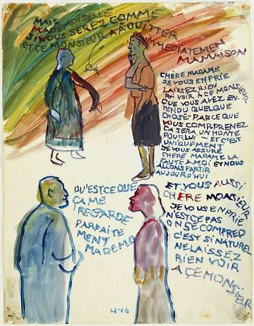 Charlotte Salomon, Gouache from Life? or Theatre?, 1940-1942, Villefranche, France. Collection Jewish Historical Museum, Amsterdam. Photo: Copyright Charlotte Salomon Foun
