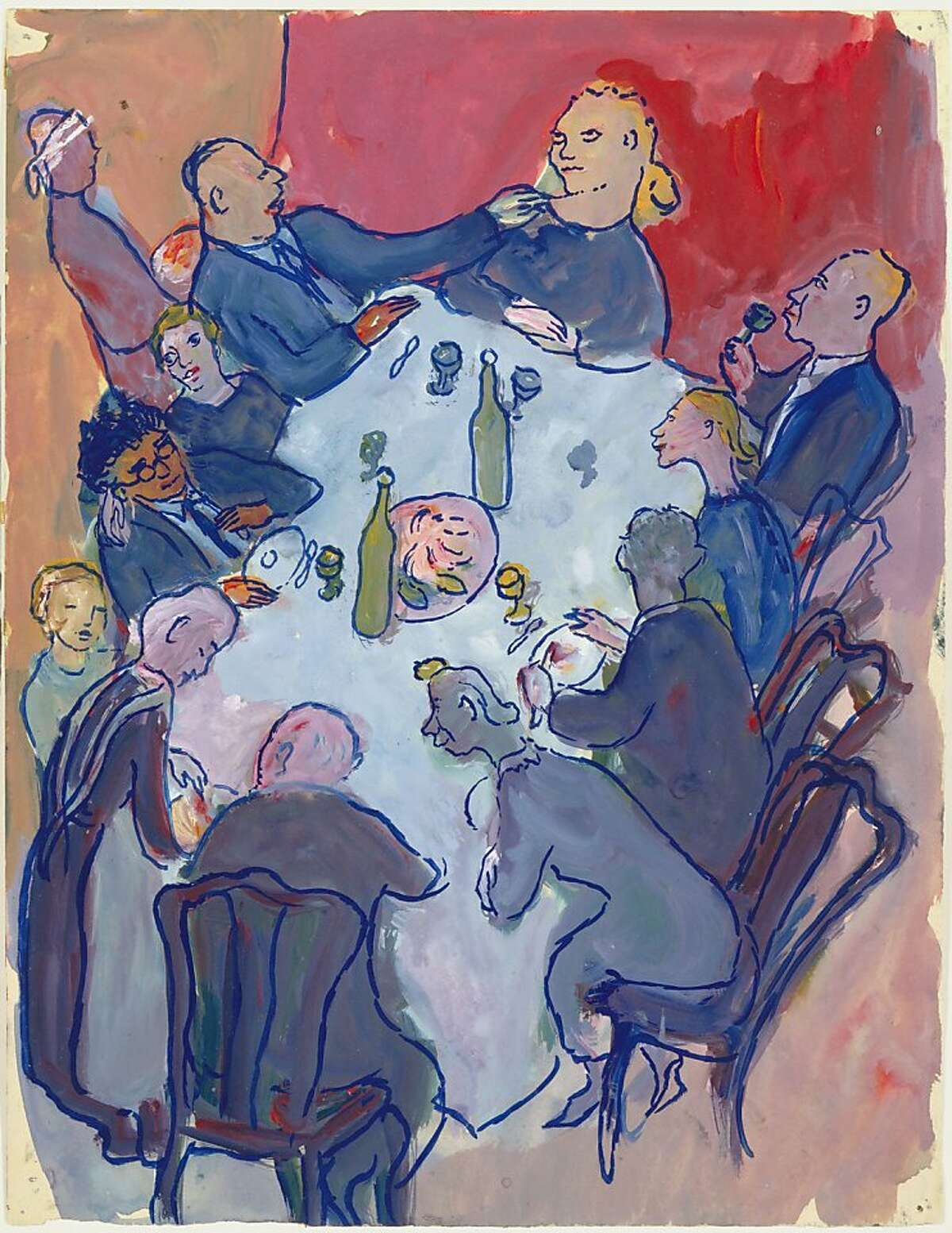 Charlotte Salomon, Gouache from Life? or Theatre?, 1940-1942, Villefranche, France. Collection Jewish Historical Museum, Amsterdam.