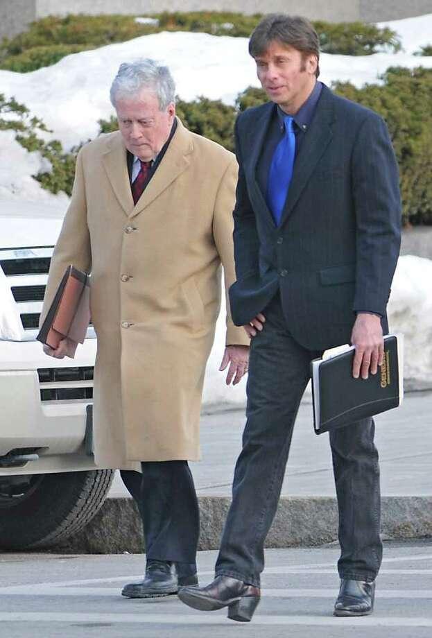 Albany County Legislator Brian Scavo leaves Albany County Court with his attorney E. David Duncan in Albany, NY on Thursday, February 17, 2011.   (Lori Van Buren / Times Union archive) Photo: Lori Van Buren / 10012114A