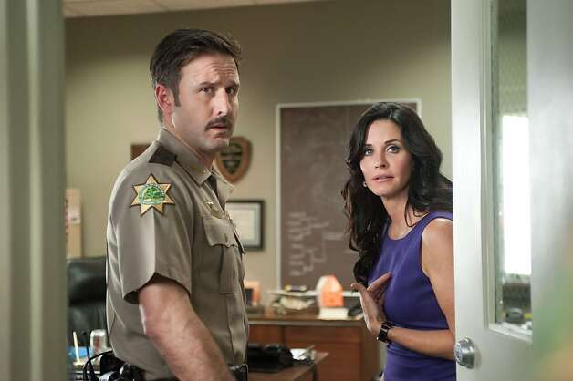 "DAvid Arquette and Courteney Cox in ""Scream 4."" Photo: Dimension Films"