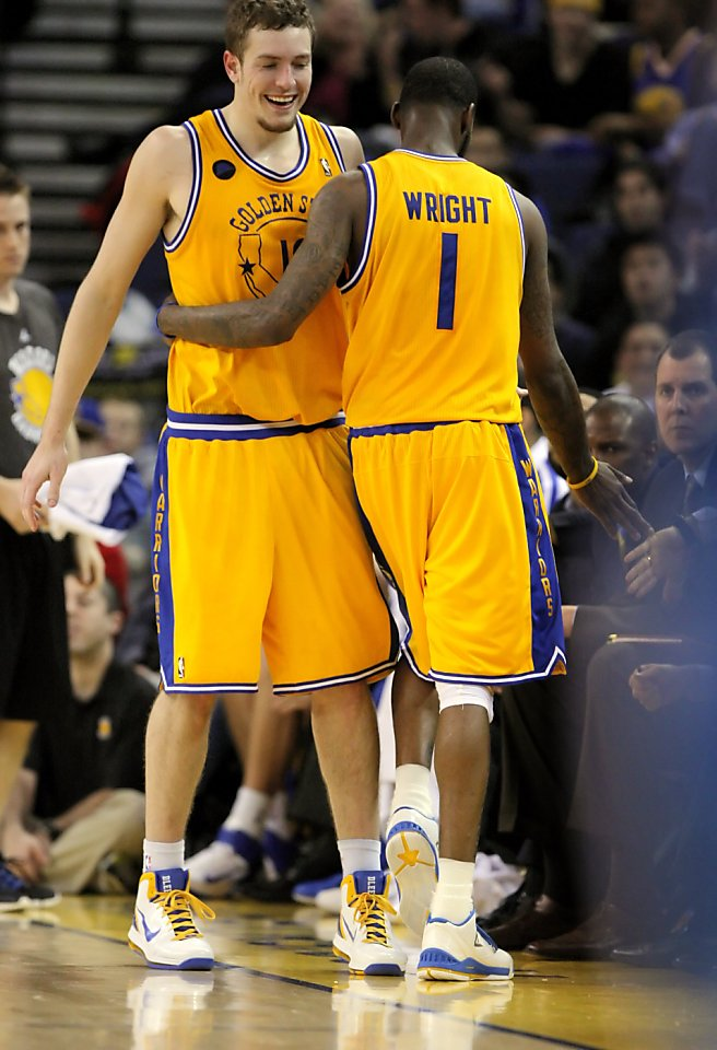 Warriors are touchy-feely guys, in 1 view