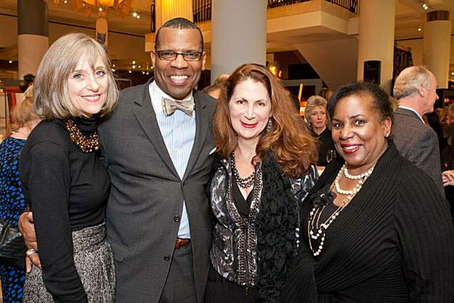 cq'd: PJ Handeland, Kenneth Winn, Patricia Ferrin Loucks and Valerie Toler at the Ancient Moderns Collection Preview at Gump's on Jan. 12 benefiting the American Heart Association's Go Red for Women campaign. Photo: Aubrie Pick, Drew Altizer Photography
