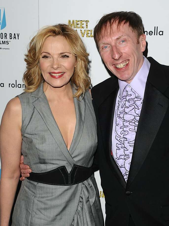 "Actress  Kim Cattrall and director Keith Bearden attend a screening of ""Meet Monica Velour"" in New York on Tuesday, March 29, 2011. Photo: Peter Kramer, AP"