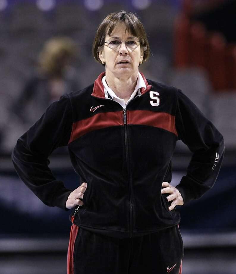 Stanford coach Tara VanDerveer looks on during practice for an NCAA women's college basketball tournament regional semifinal, Friday, March 25, 2011, in Spokane, Wash. Stanford plays North Carolina Saturday. Photo: Elaine Thompson, AP