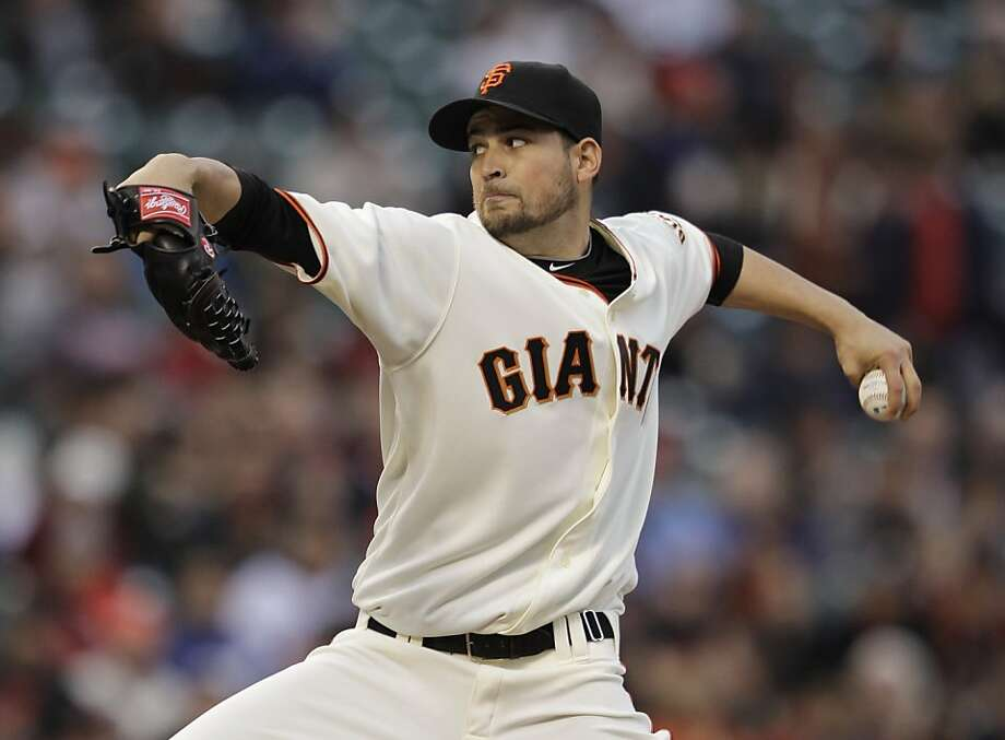 San Francisco Giants starting pitcher Jonathan Sanchez throws to the Philadelphia Phillies during the first inning in San Francisco on Monday. Photo: Marcio Jose Sanchez, AP