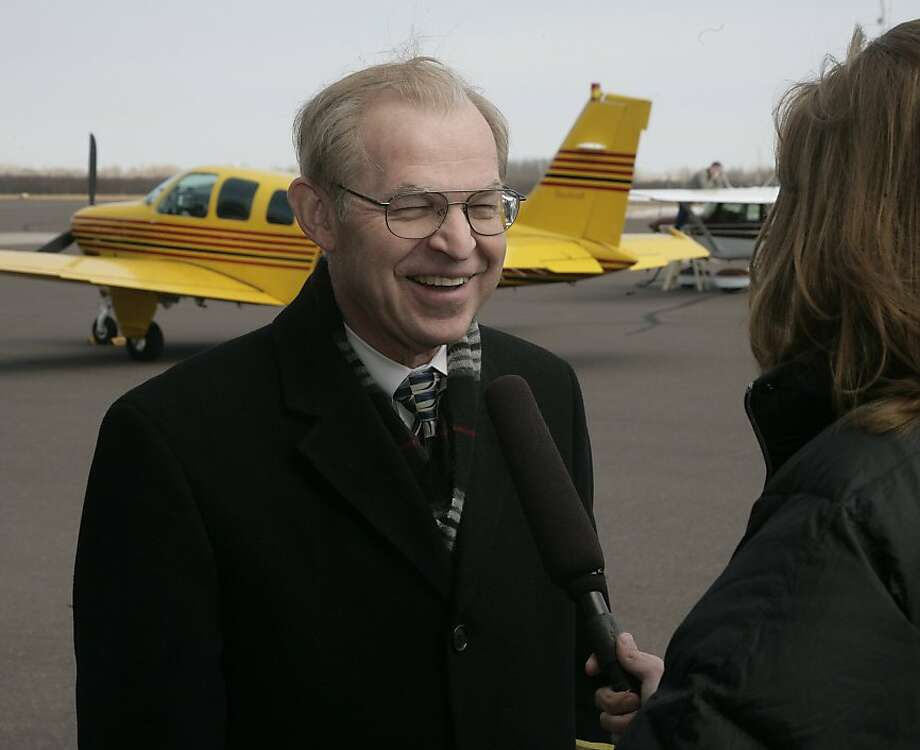 "Wisconsin Supreme Court Judge David Prosser is interviewed at the Richard I Bong Airport in Superior, Wis., Thursday, March 31, 2011. The race for supreme court judge in Wisconsin has become a heated issue after Gov. Scott Walker signed a bill limiting unions in Wisconsin. The slogan used by Prosser's opponents is ""A vote for Prosser is a vote for Walker."" Photo: Paul M. Walsh, AP"