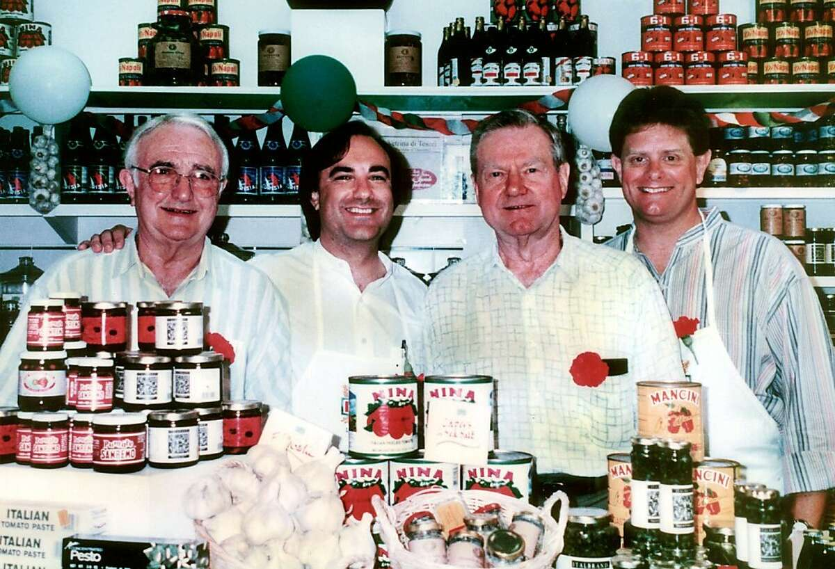 Harold Ferrari and Vince Cerletti with sons Paul and Larry of A.G. Ferrari