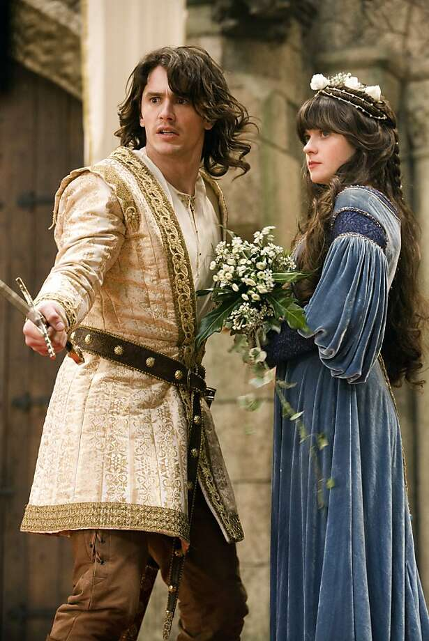 "In this film publicity image released by Universal Pictures, James Franco, left, and Zooey Deschanel are shown in a scene from, ""Your Highness."" Photo: Frank Connor, AP"