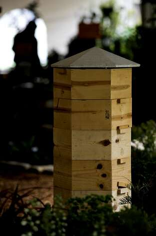 "Hex Hive""  a bee hive designed by Randy Sue Collins, the ""Sonoma Bee Lady"",  displayed at the Star Apple Edible Garden, at the San Francisco Flower and Garden show at the Event Center on Saturday Mar. 26, 2011, in San  Mateo, Ca. Photo: Michael Macor, The Chronicle"